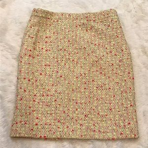 J. Crew No. 2 Pencil Skirt in Neon Tweed Size 10